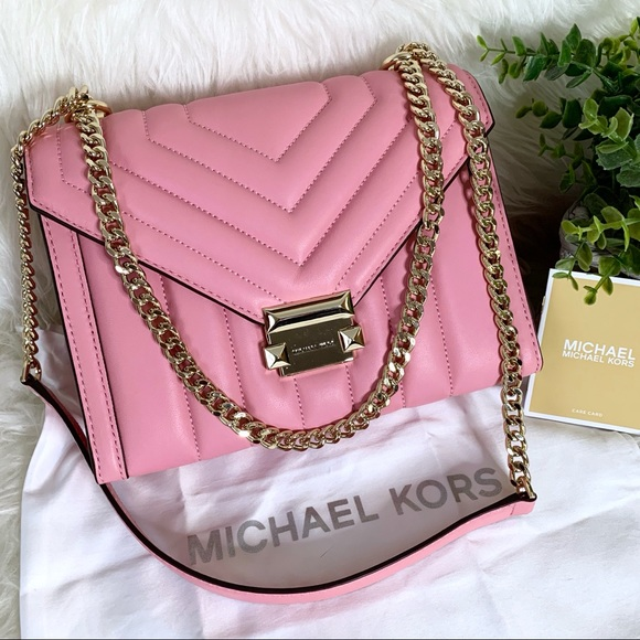 Michael Kors Handbags - NWT Michael Kors Whitney Pink Quilted Shoulder Bag